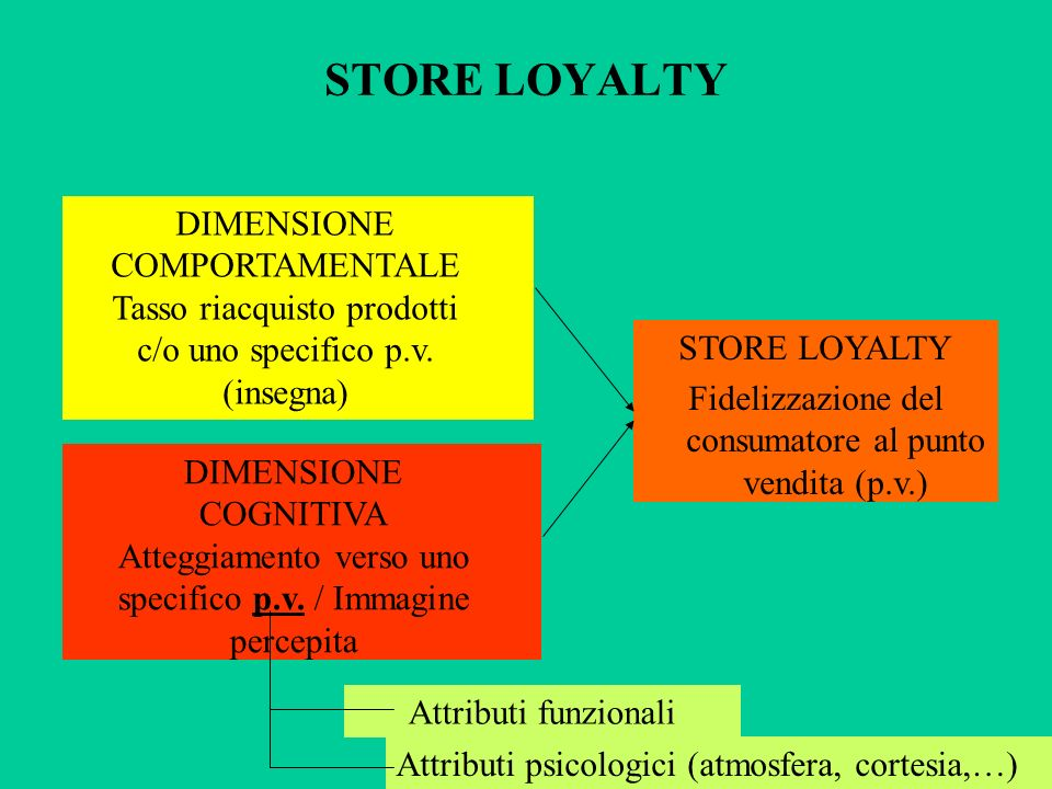 STORE LOYALTY DIMENSIONE COMPORTAMENTALE