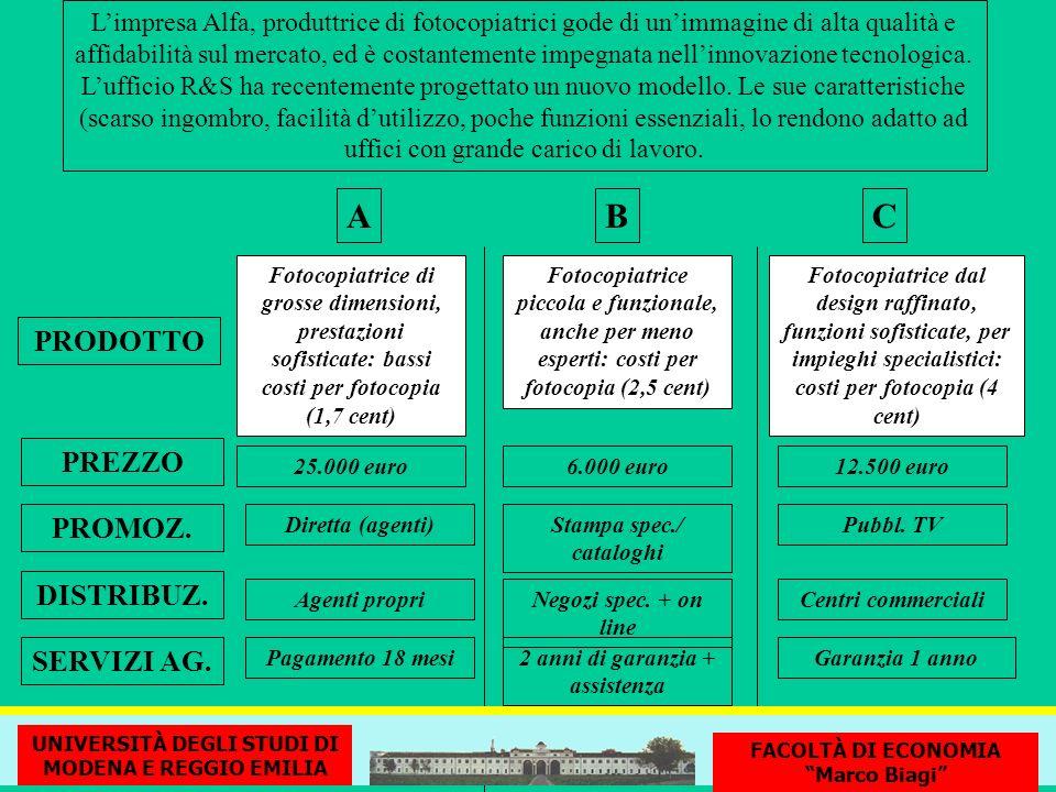 Stampa spec./ cataloghi 2 anni di garanzia + assistenza
