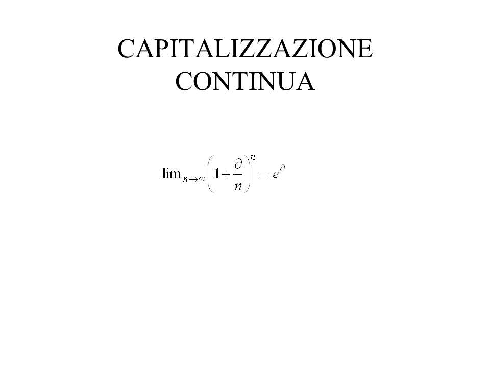 CAPITALIZZAZIONE CONTINUA