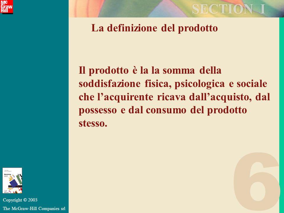 6 La definizione del prodotto