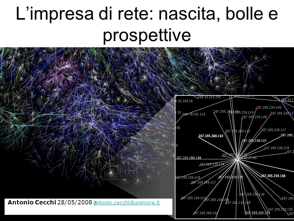 L'impresa di rete: nascita, bolle e prospettive