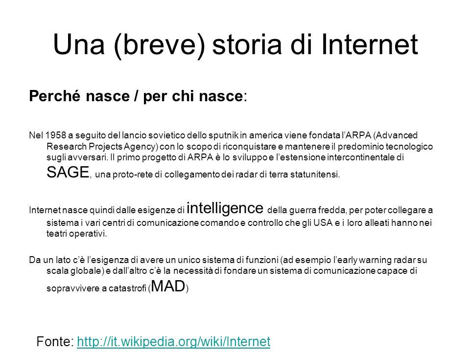 Una (breve) storia di Internet