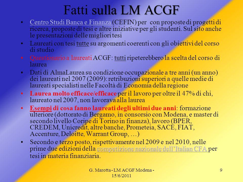 G. Marotta - LM ACGF Modena - 15/6/2011