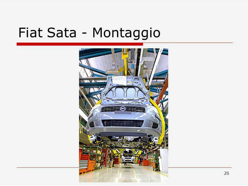 Fiat Sata - Montaggio