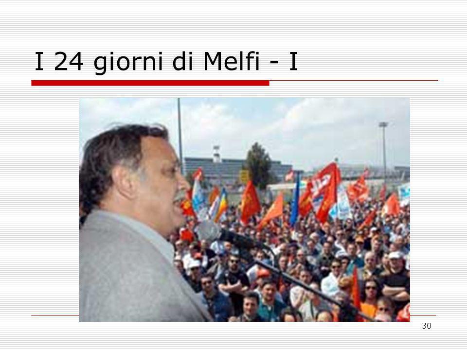 I 24 giorni di Melfi - I