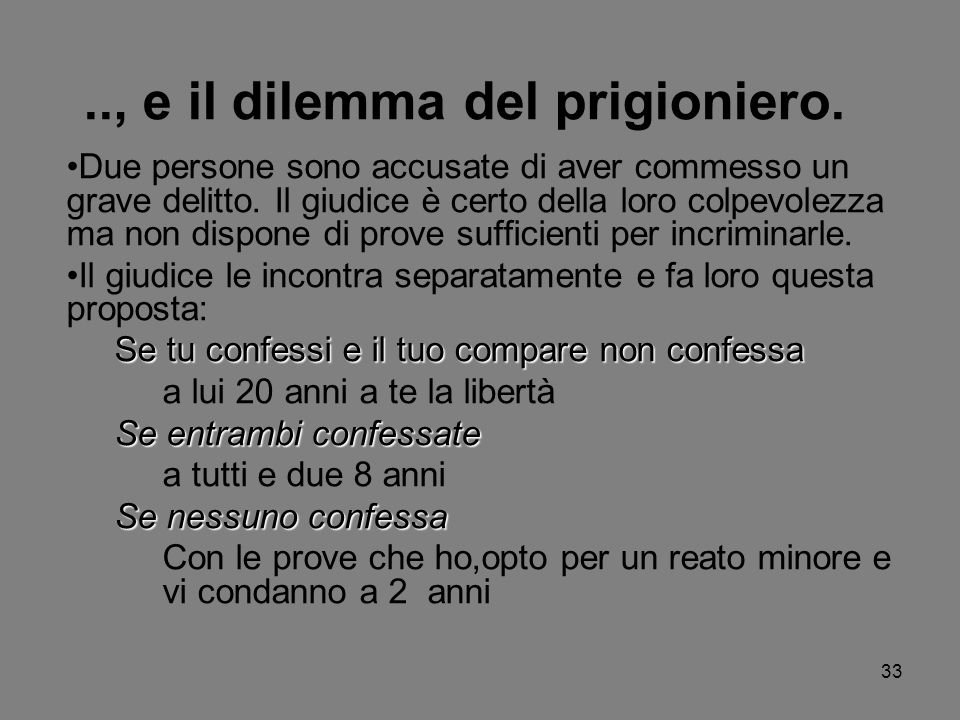 .., e il dilemma del prigioniero.