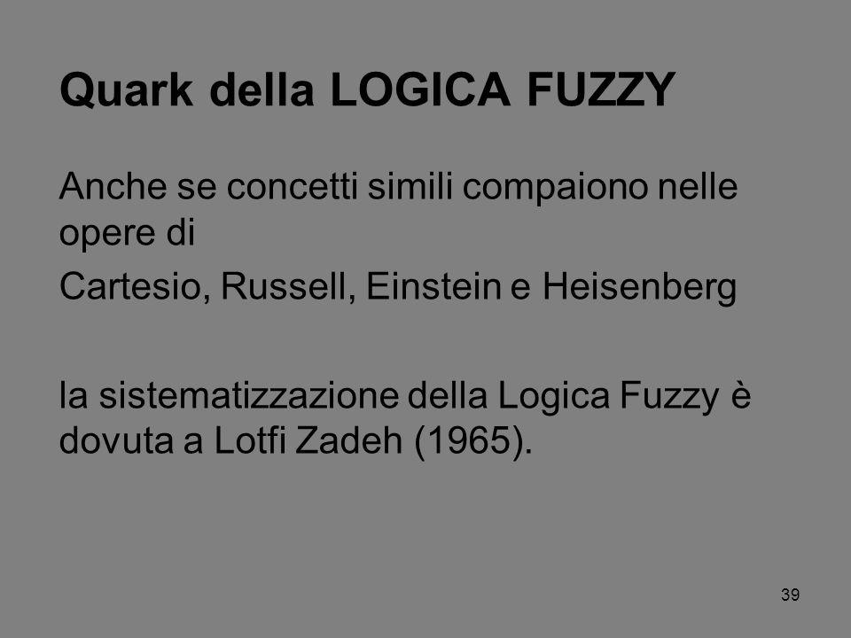 Quark della LOGICA FUZZY