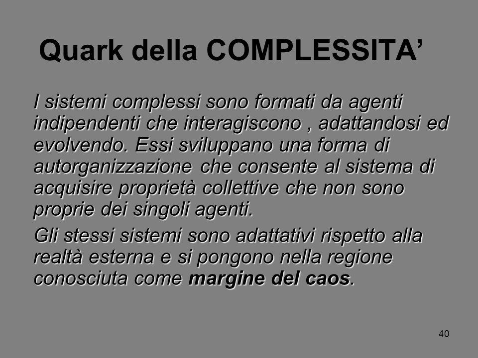 Quark della COMPLESSITA'