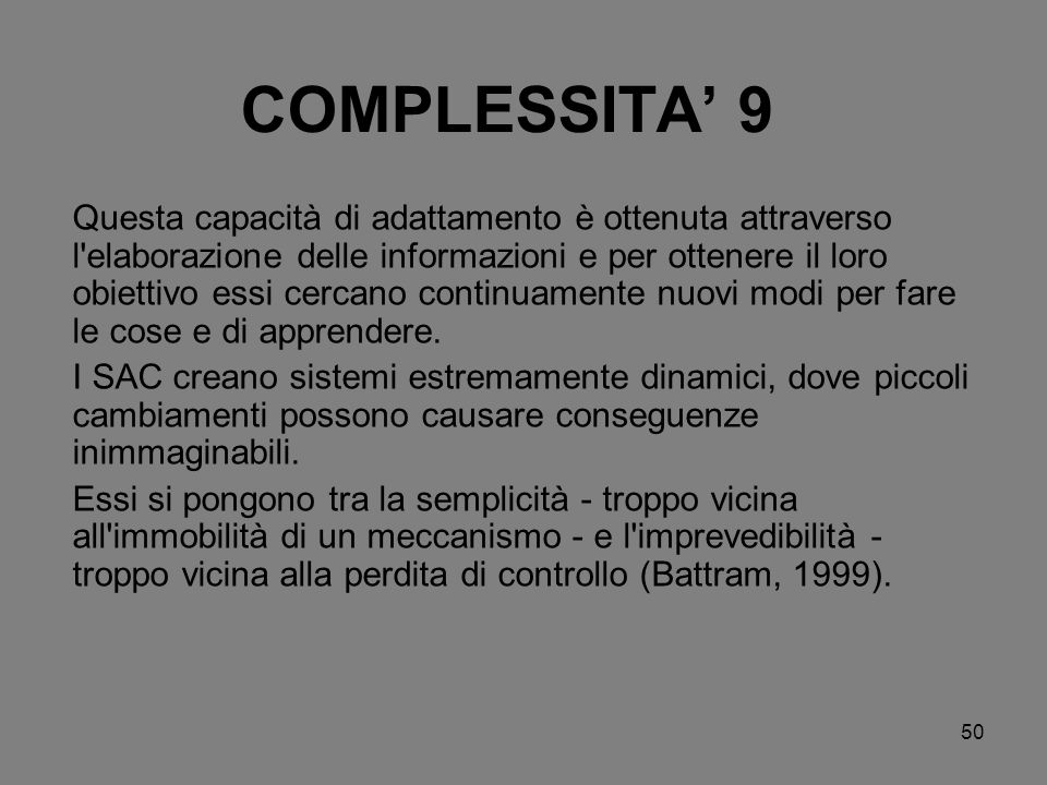 COMPLESSITA' 9