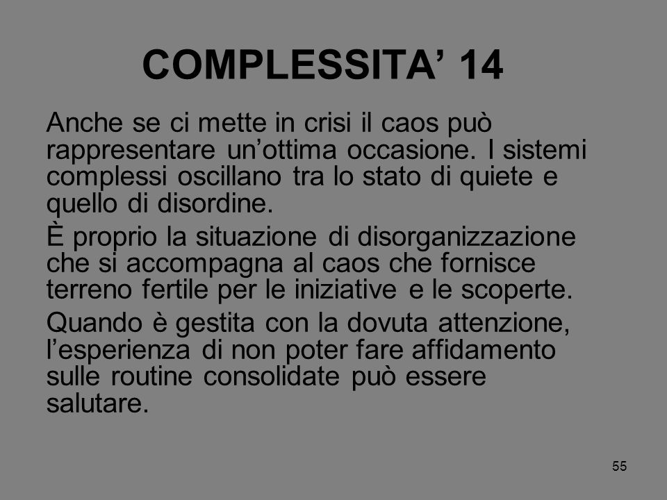 COMPLESSITA' 14