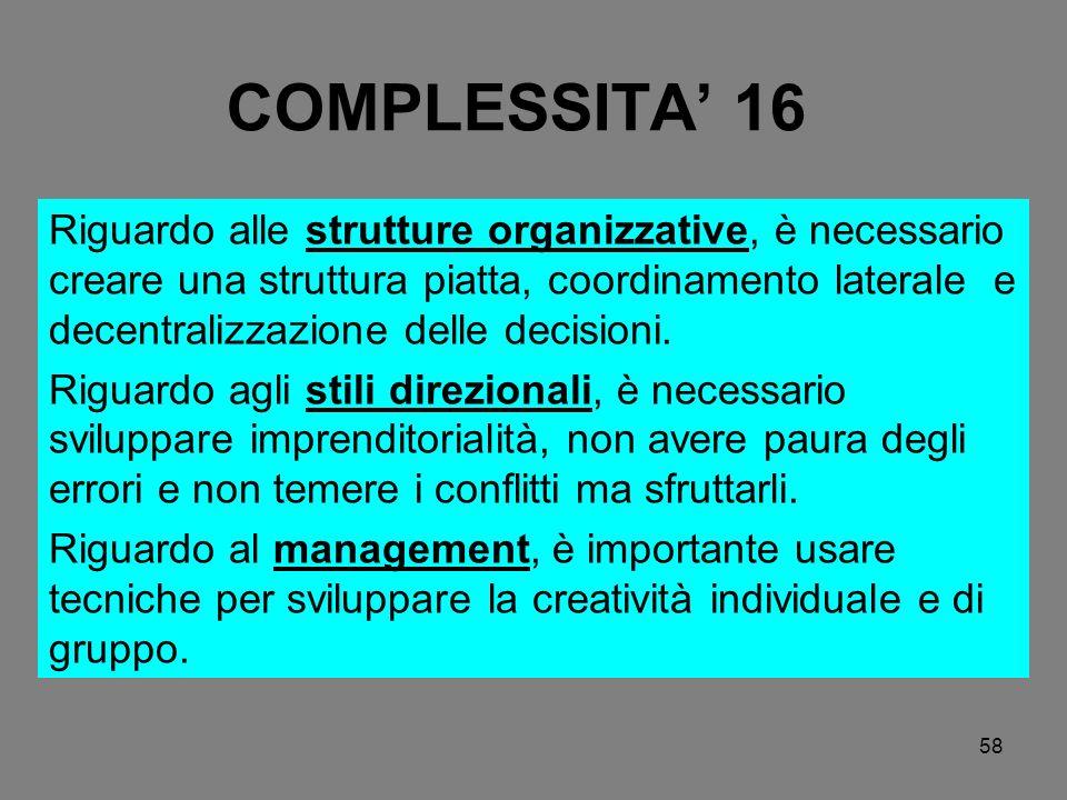 COMPLESSITA' 16