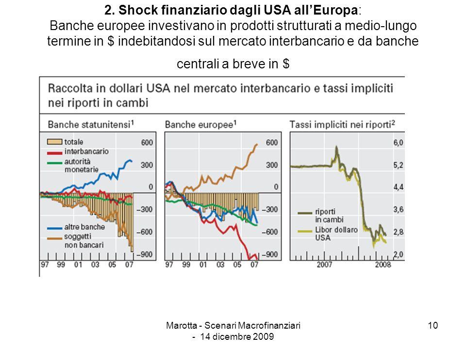 Marotta - Scenari Macrofinanziari - 14 dicembre 2009