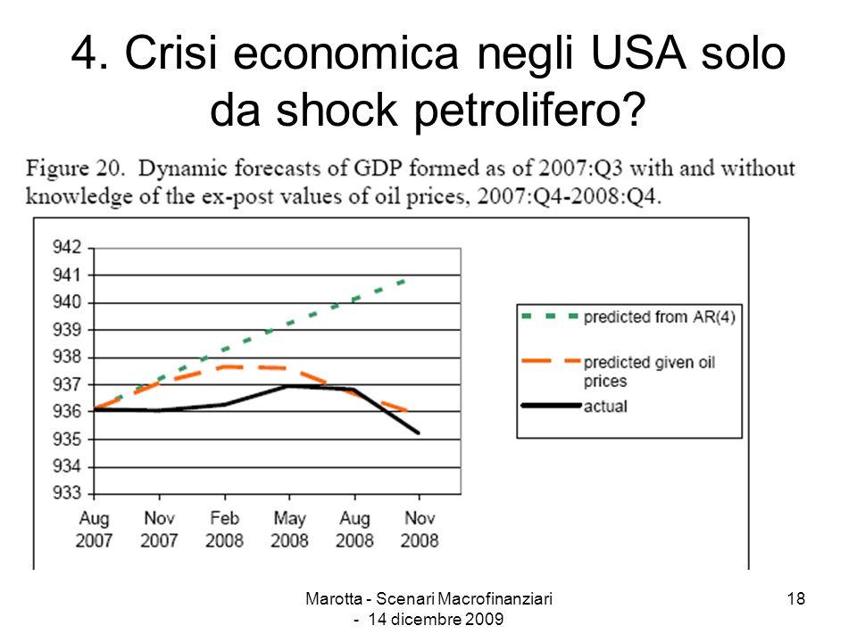4. Crisi economica negli USA solo da shock petrolifero