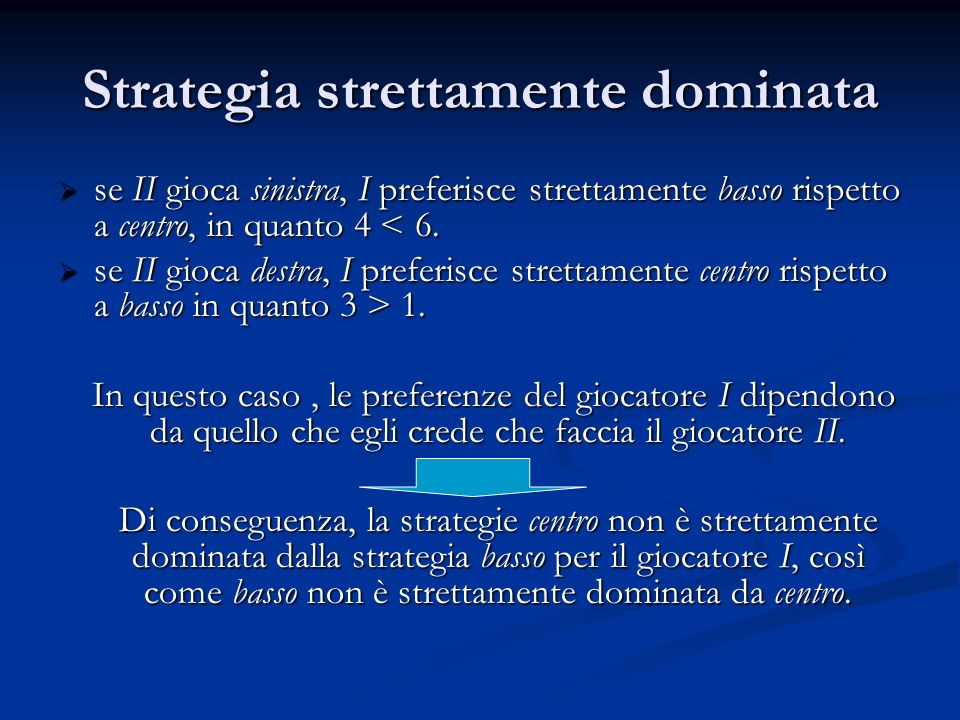 Strategia strettamente dominata