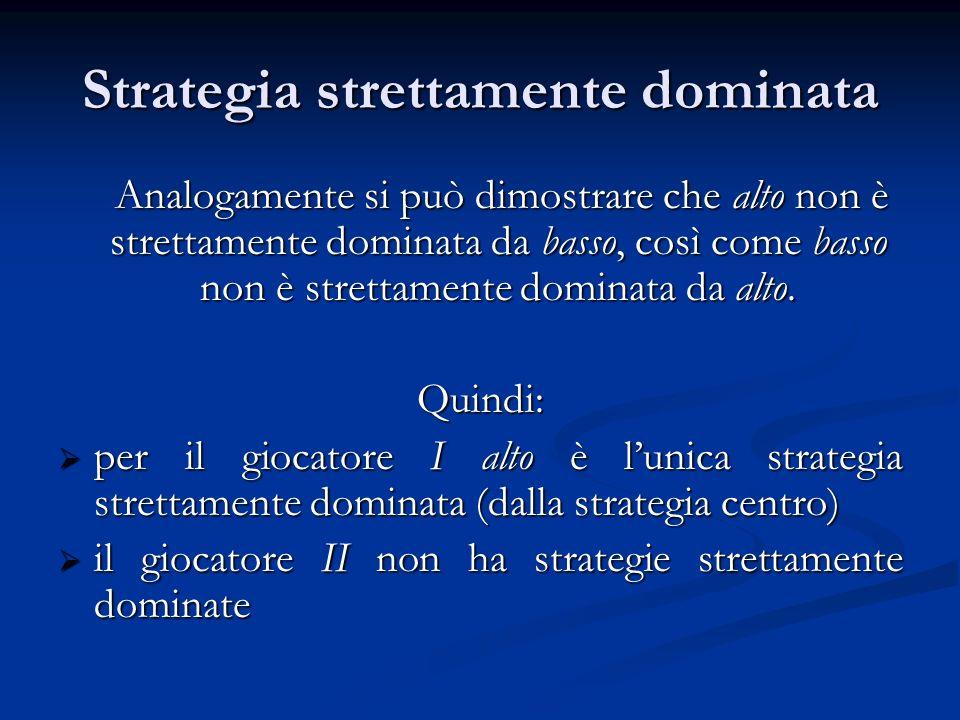Strategia strettamente dominata