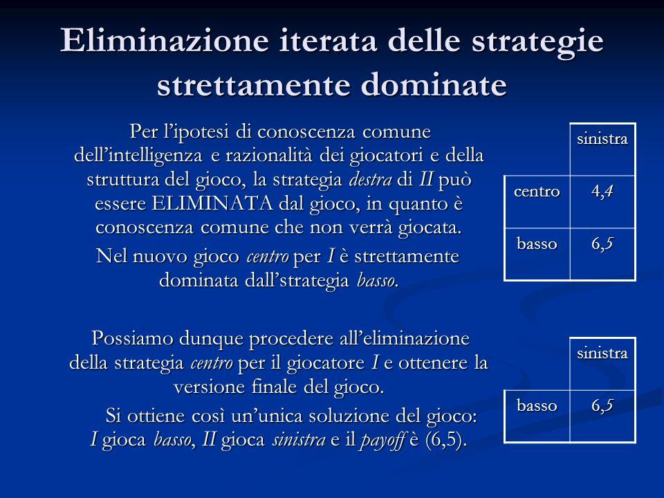 Eliminazione iterata delle strategie strettamente dominate