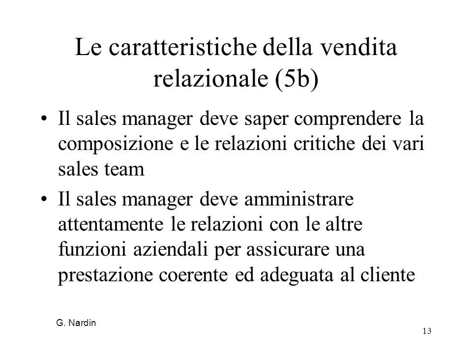 Le caratteristiche della vendita relazionale (5b)