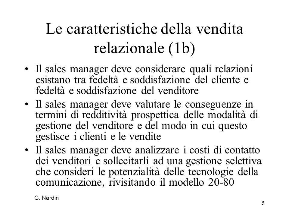 Le caratteristiche della vendita relazionale (1b)