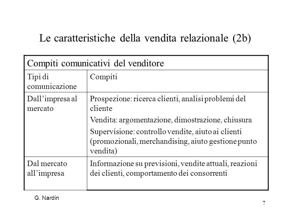 Le caratteristiche della vendita relazionale (2b)