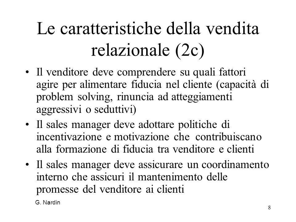 Le caratteristiche della vendita relazionale (2c)
