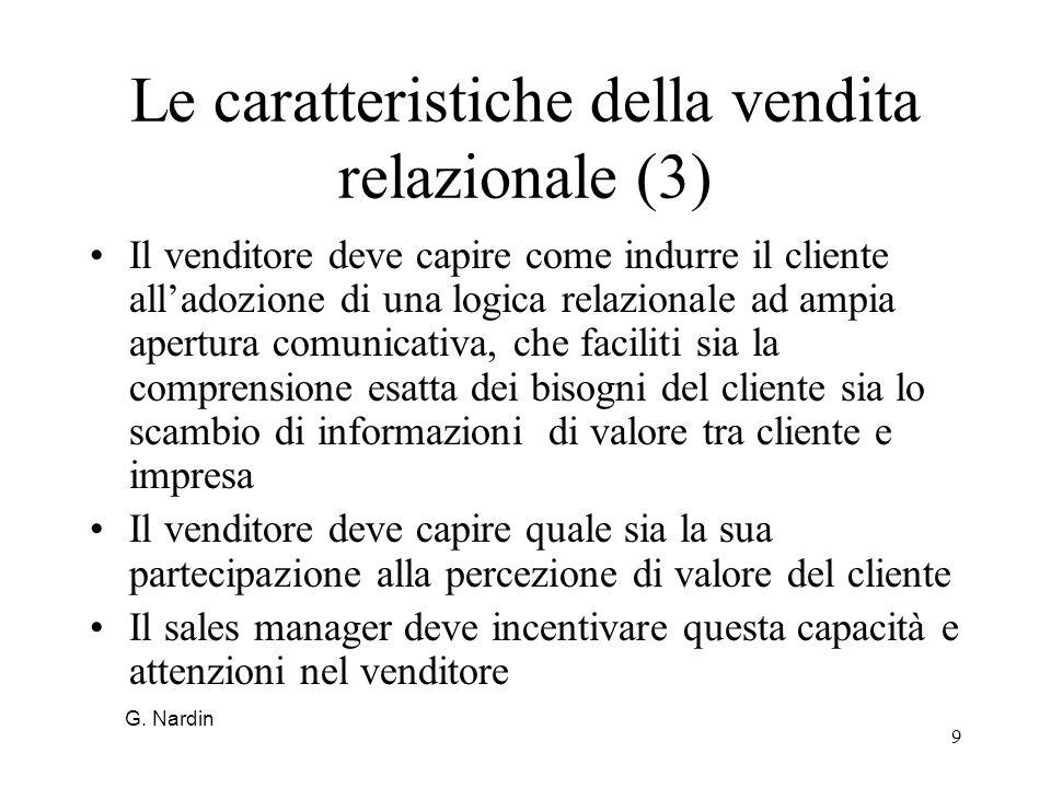 Le caratteristiche della vendita relazionale (3)