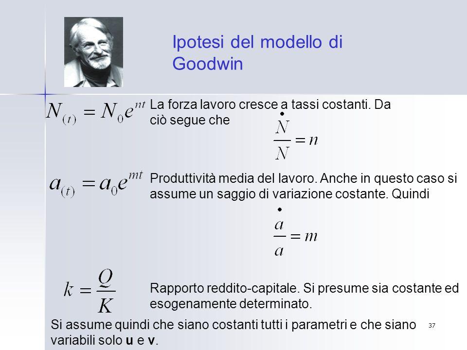 Ipotesi del modello di Goodwin