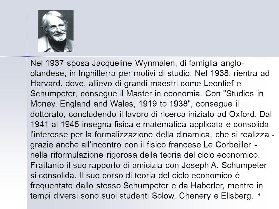Nel 1937 sposa Jacqueline Wynmalen, di famiglia anglo-olandese, in Inghilterra per motivi di studio.