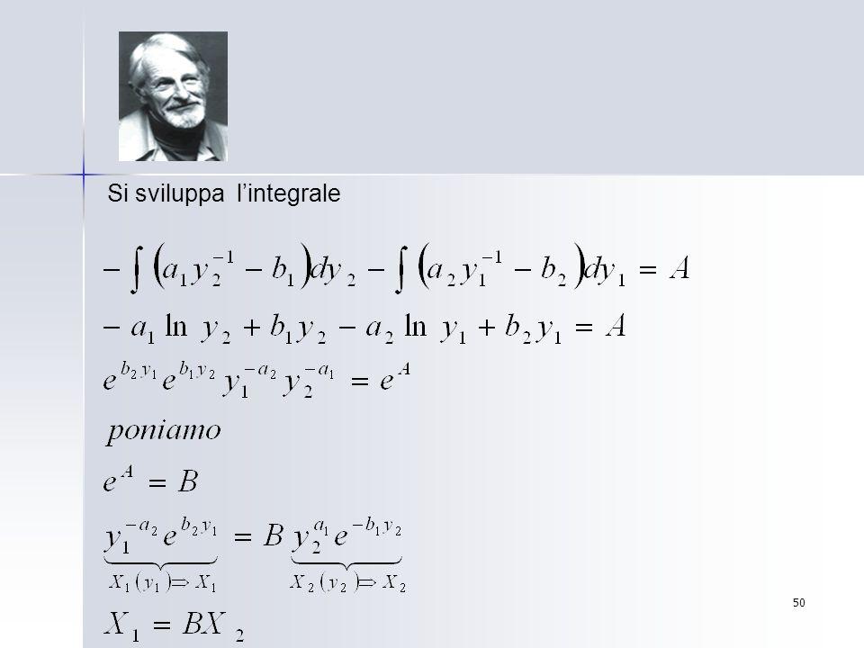 Si sviluppa l'integrale