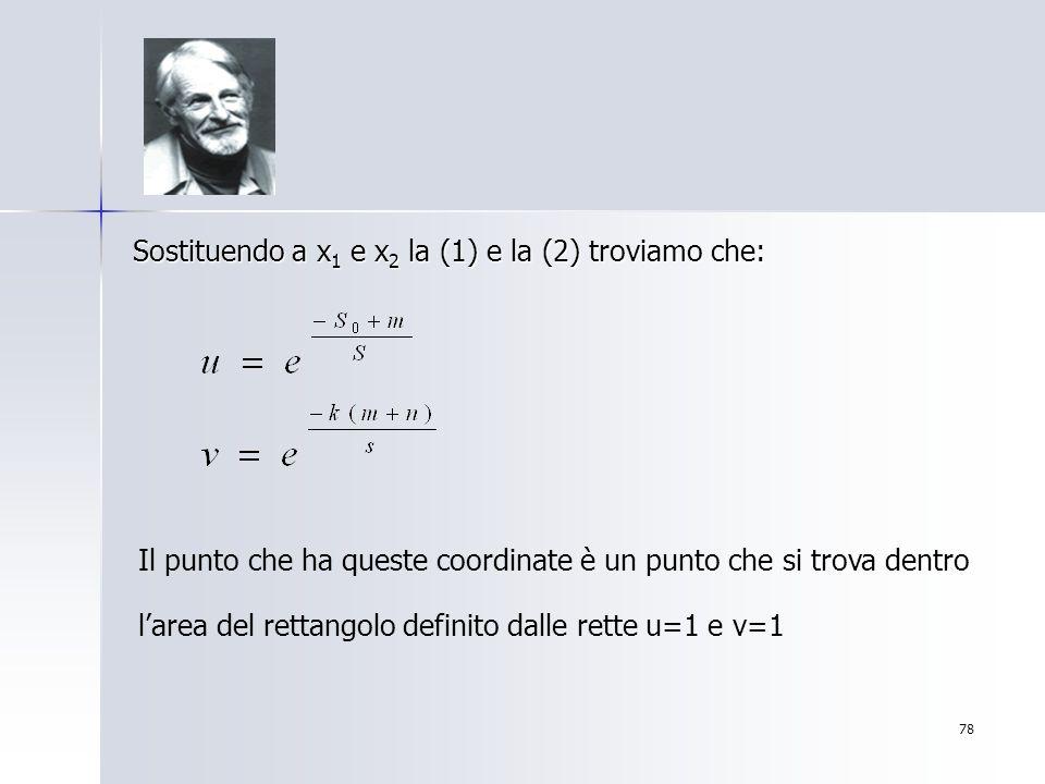 Sostituendo a x1 e x2 la (1) e la (2) troviamo che: