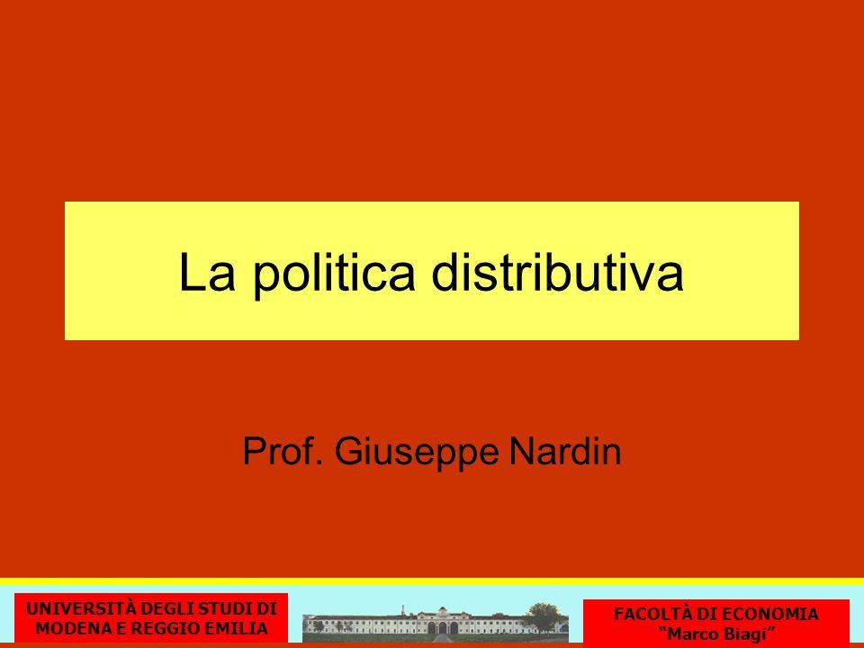 La politica distributiva