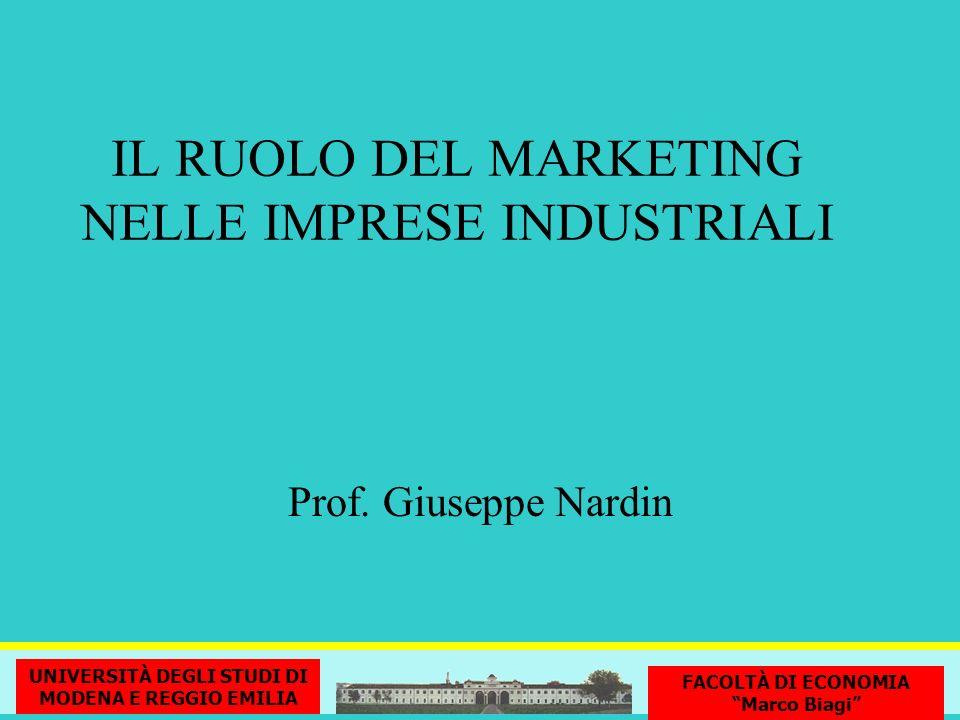 IL RUOLO DEL MARKETING NELLE IMPRESE INDUSTRIALI
