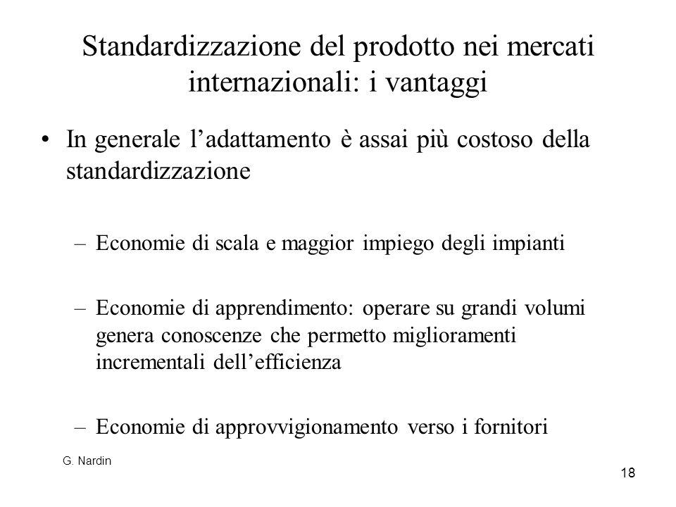 Standardizzazione del prodotto nei mercati internazionali: i vantaggi