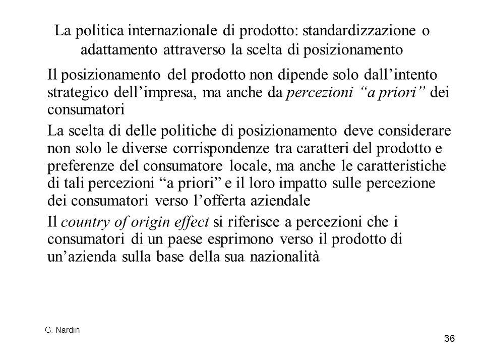 La politica internazionale di prodotto: standardizzazione o adattamento attraverso la scelta di posizionamento