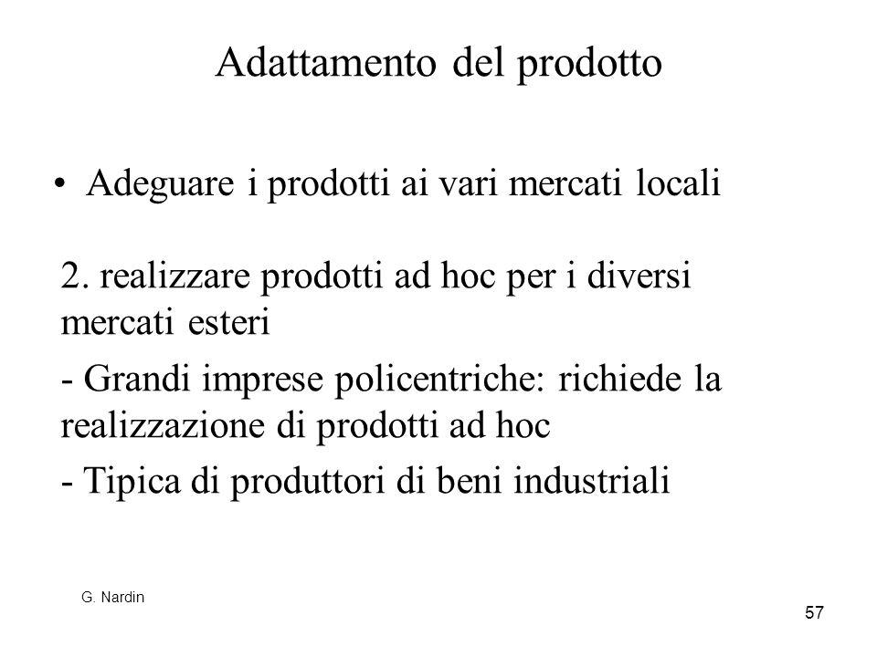 Adattamento del prodotto