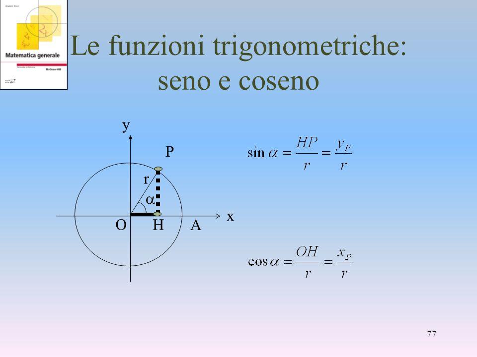 Le funzioni trigonometriche: seno e coseno