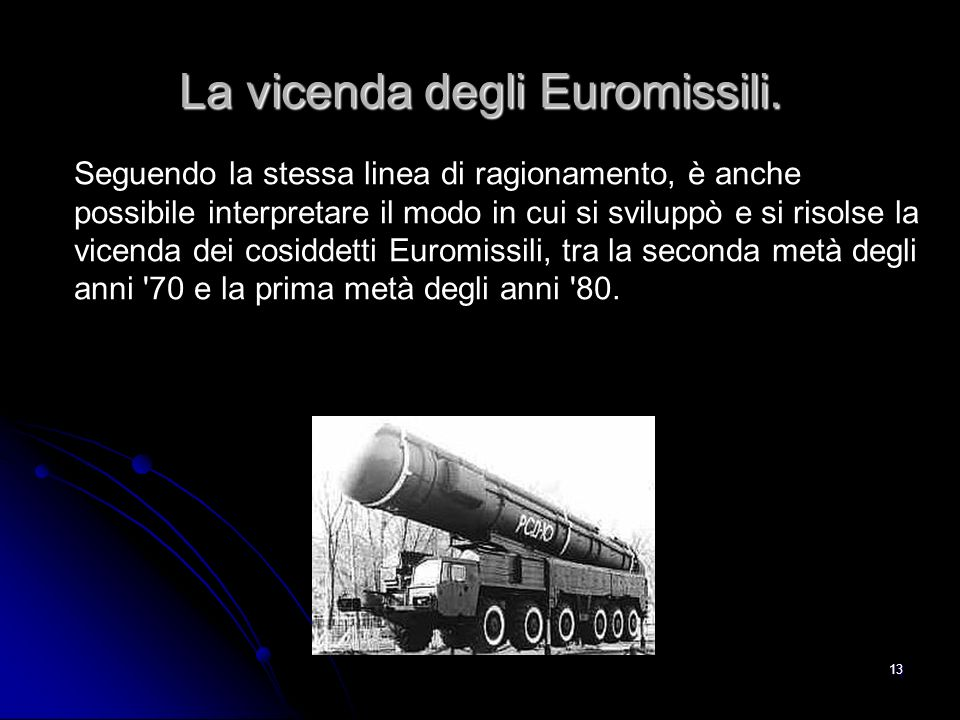 La vicenda degli Euromissili.