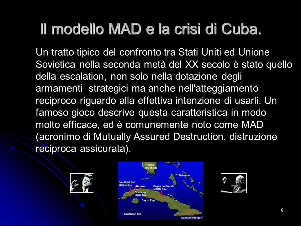 Il modello MAD e la crisi di Cuba.