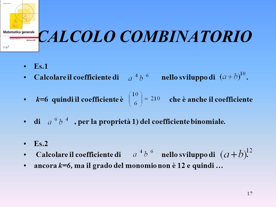 CALCOLO COMBINATORIO Es.1