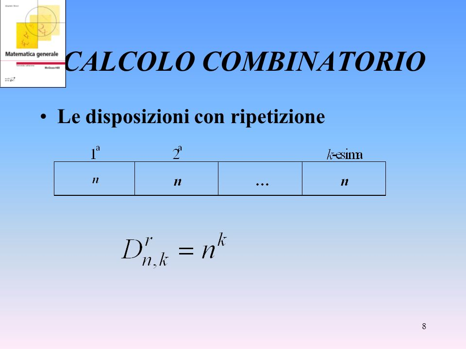 CALCOLO COMBINATORIO Le disposizioni con ripetizione