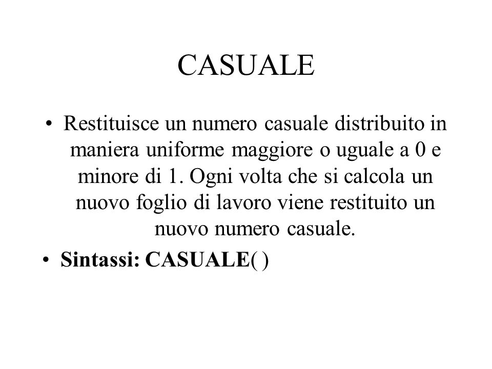 CASUALE