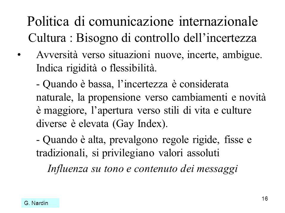 Politica di comunicazione internazionale