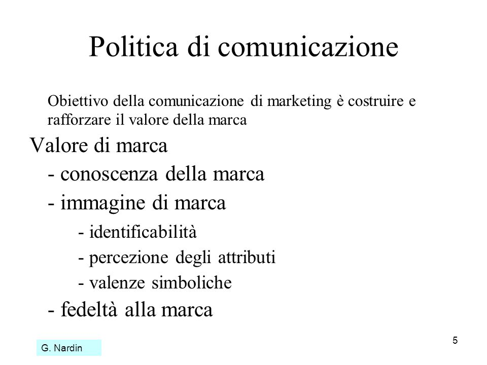 Politica di comunicazione
