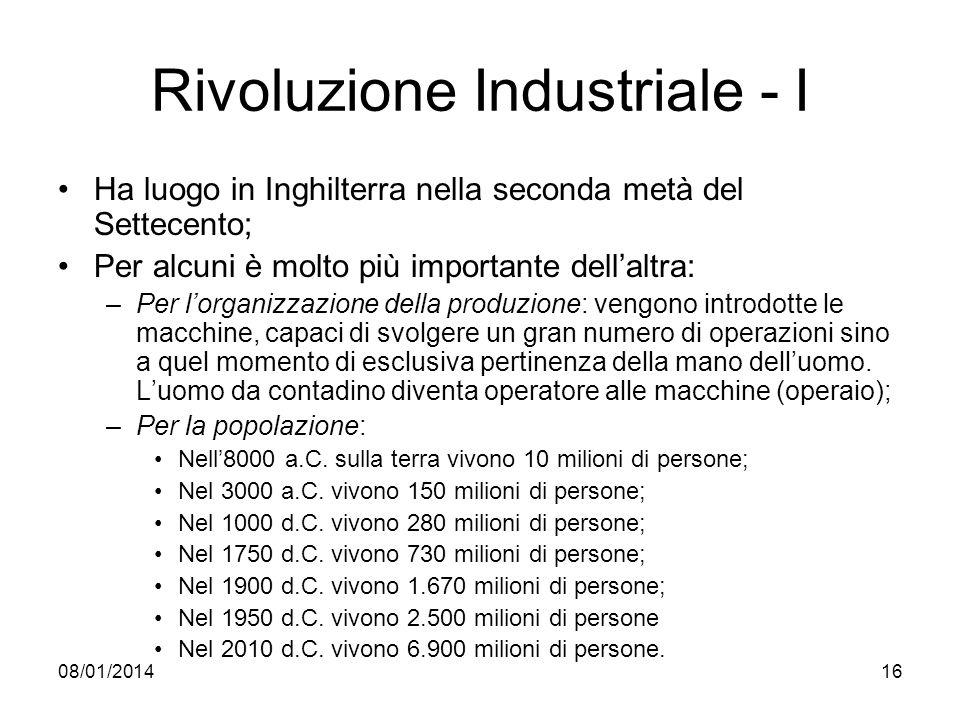 Rivoluzione Industriale - I
