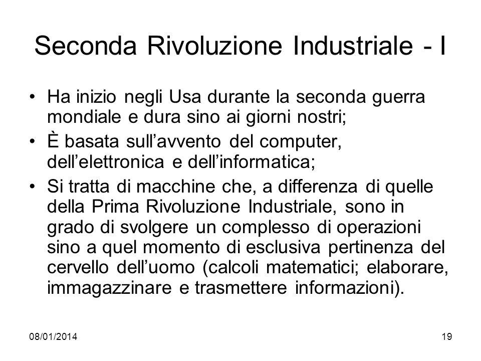 Seconda Rivoluzione Industriale - I