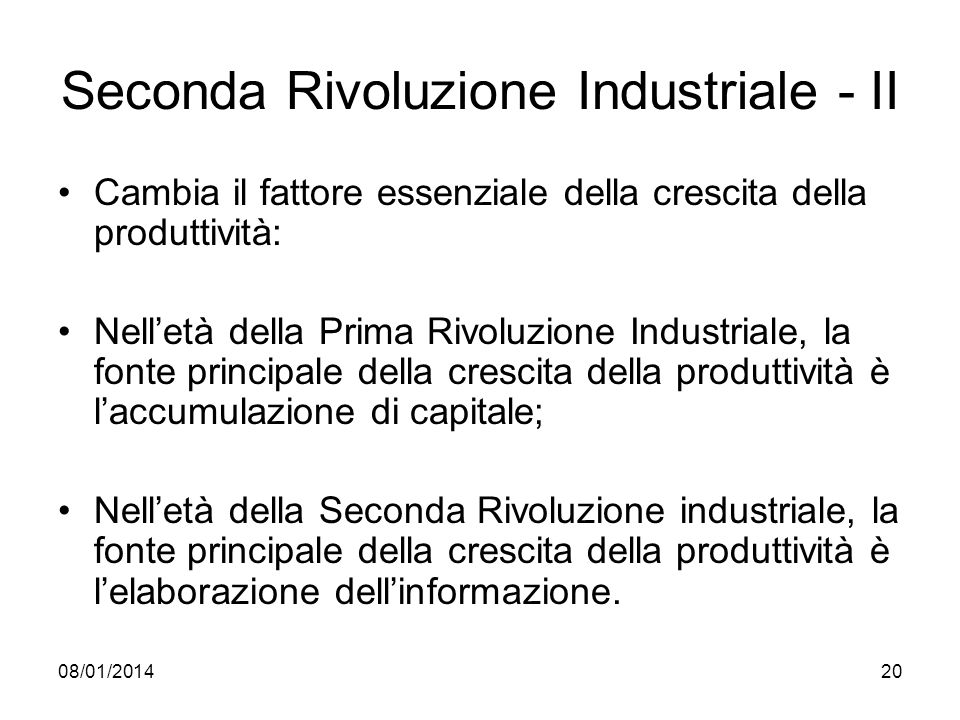 Seconda Rivoluzione Industriale - II
