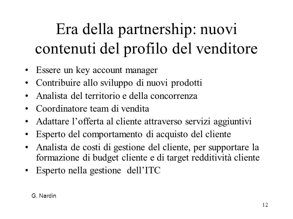 Era della partnership: nuovi contenuti del profilo del venditore