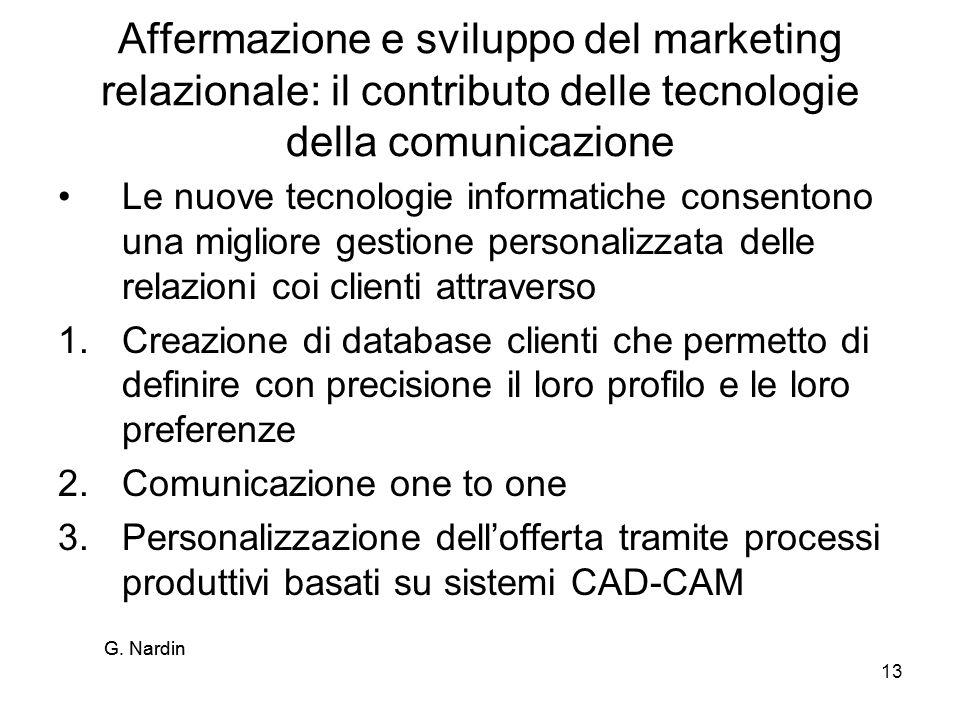 Affermazione e sviluppo del marketing relazionale: il contributo delle tecnologie della comunicazione