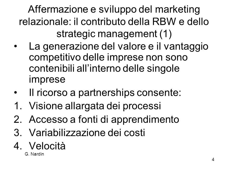 Affermazione e sviluppo del marketing relazionale: il contributo della RBW e dello strategic management (1)