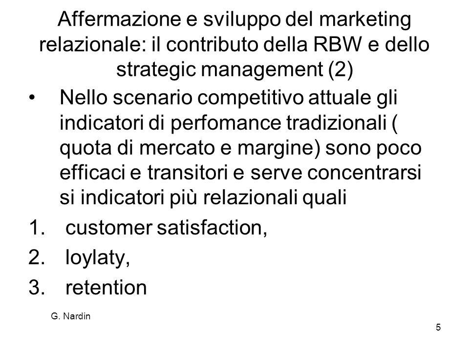 Affermazione e sviluppo del marketing relazionale: il contributo della RBW e dello strategic management (2)