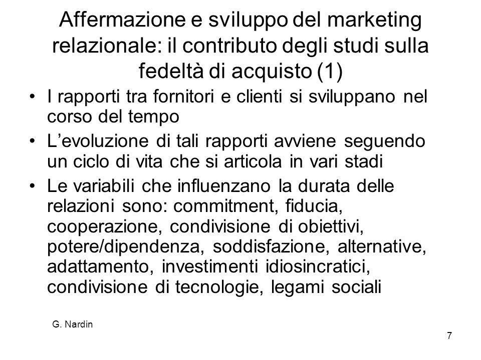 Affermazione e sviluppo del marketing relazionale: il contributo degli studi sulla fedeltà di acquisto (1)